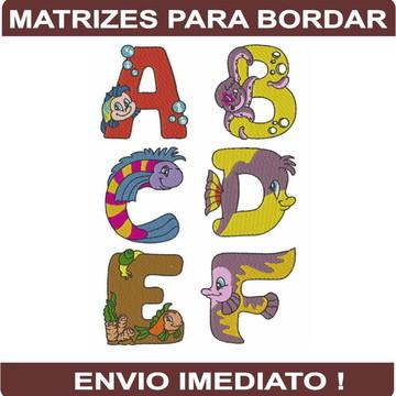 Matrizes para bordar Alfabeto dos Animaizinhos
