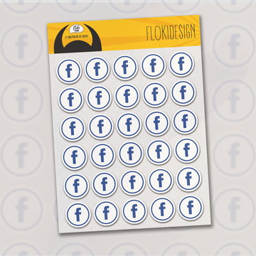 Cartela Adesiva Planner Caderno Agenda Scrapbook Facebook