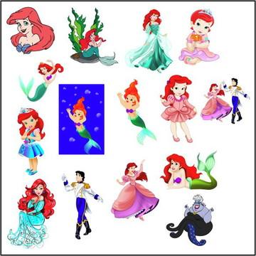 Vetores Princesa Ariel CDR, EPS, Ai e PNG (52 Vetores CDR e