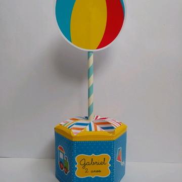 Caixa personalizada sextavada Gomos Brinquedos