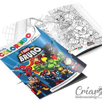 Revista para Colorir - Super Heróis Kids