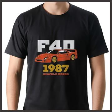 Camiseta Carro Esporte 1987 Diavolo Rosso