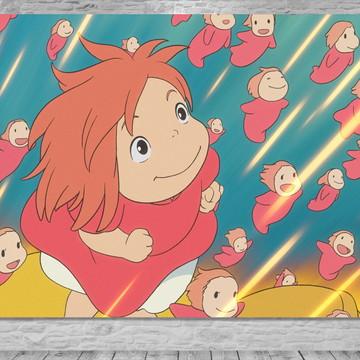 Painel Ponyo - Uma Amizade que Veio do Mar - Frete Grátis
