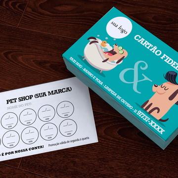 Cartão Fidelidade Banho E Tosa Pet Shop - Super Preço!