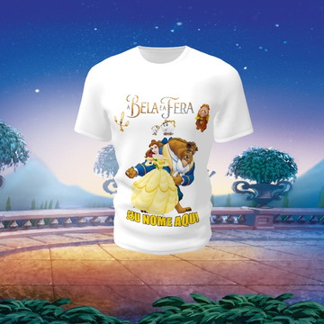 Camiseta Camisa Blusa Disney A Bela e a Fera