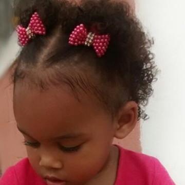 Xuxinha de cabelo com laço