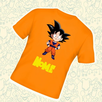 Camiseta Infantil Personalizada Goku Dragon Ball C266LJ