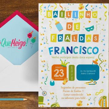 Convite Bailinho de Fraldas 2019