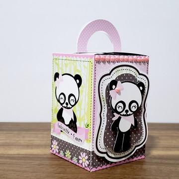 caixa com alça ursinha panda