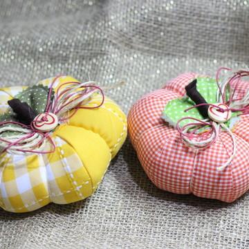 Abóboras em tecido, decorativas kit com 2