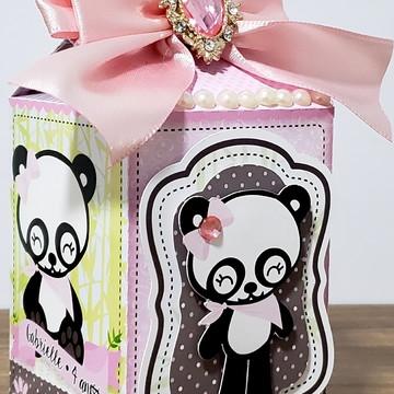 caixa milk ursinha panda
