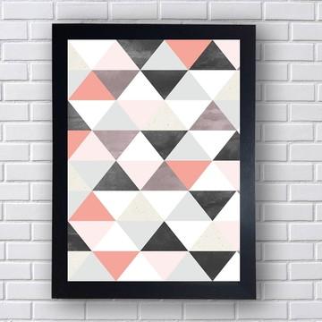 Quadro Poster Geométrico Delicado