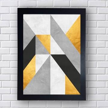Quadro Poster Geometria Abstrata