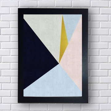 Quadro Poster Geometria Para Sala