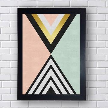 Quadro Poster Geometria Triangular