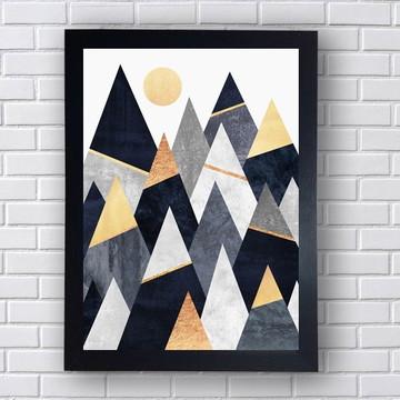 Quadro Poster Geométrico Sol