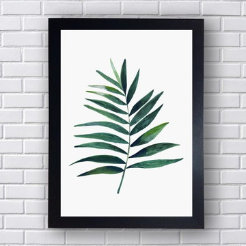 Quadro Planta Verde Para Decoração De Casa
