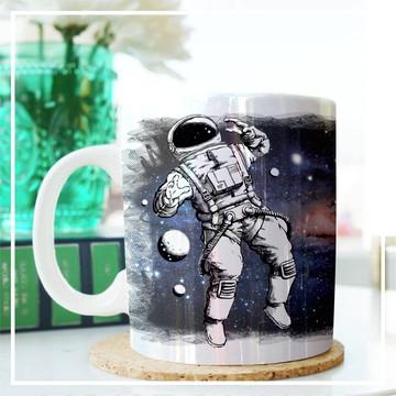 Caneca Temática - Astronauta - Com foto.