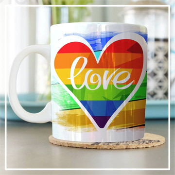 Caneca Temática - Love (LGBT)