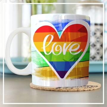Caneca Temática - LOVE (LGBT) - Com foto.