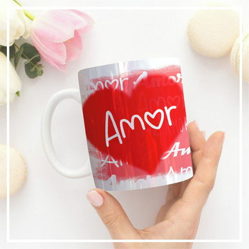 Caneca Temática - Amor - Com foto.