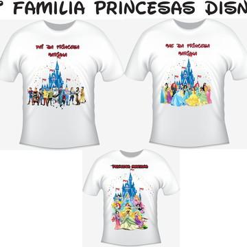 Camiseta Princesas Disney Kit com 03 Camisetas