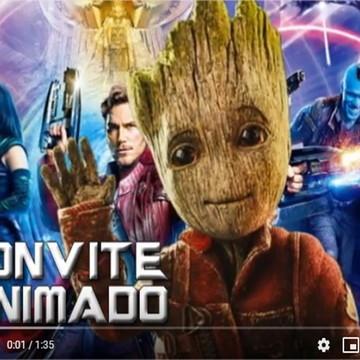 Vídeo - Convite Digital Animado Guardiões da Galáxia