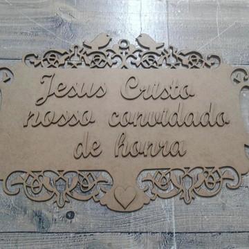 Placa Noiva com ESCRITA/ Crua