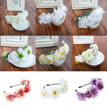 Coroa Flores Tiara P/casamento Arranjo Grinalda Várias Cores