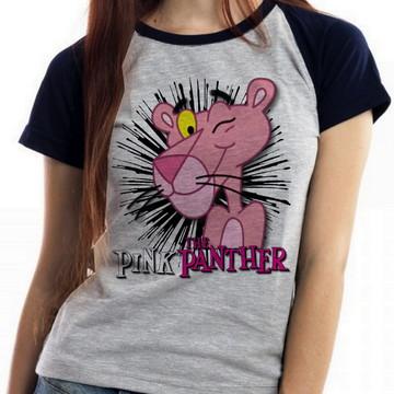 d507474da6 blusa feminina baby look Pantera Cor de Rosa pink panther