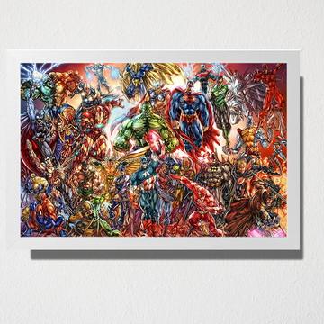 Quadro Marvel e DC