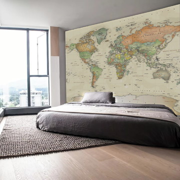 Painel Adesivo Parede Mapa Mundi