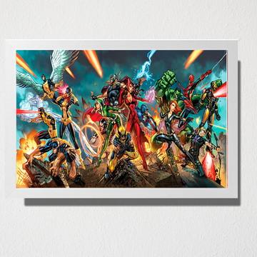 Quadro Vingadores e X-man