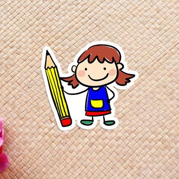 Aplique/adesivo/tag - aquarela pintora