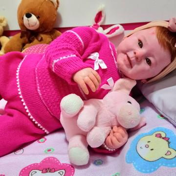 1bf93385dc Bebê Reborn Valentina Q Chora E Balbucia Super Promoção!