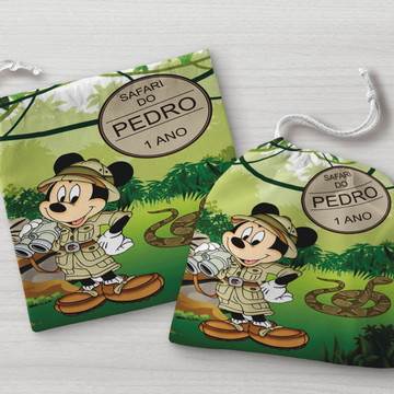 Saquinho Surpresa Mickey Safari