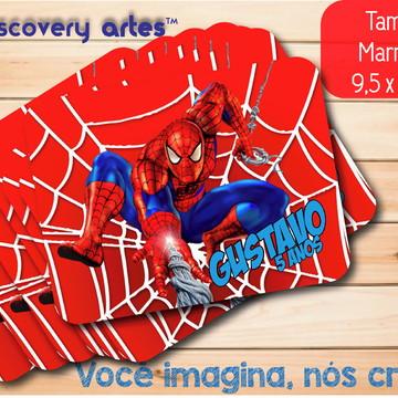 Tampa de Marmitinha Homem Aranha