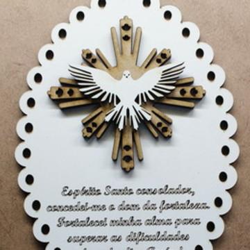 Escapulário de Porta ou Berço - Divino Espírito Santo