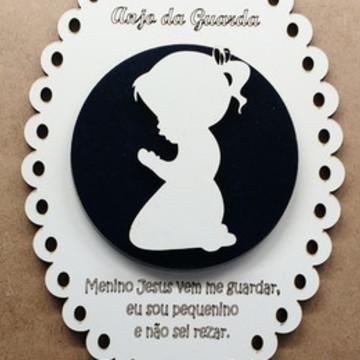 Escapulário de Porta ou Berço - Anjo da Guarda para menina