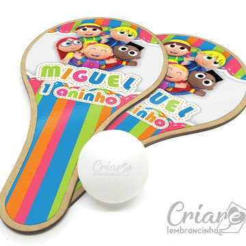 Kit Raquete de Ping Pong - Os Pequerruchos
