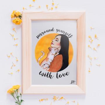 Cat Love - Print A4