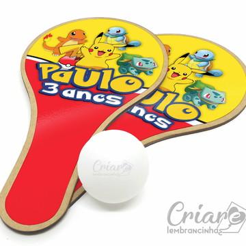 Kit Raquete de Ping Pong - Pokémon