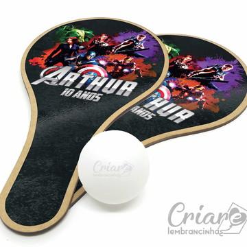 Kit Raquete de Ping Pong - Os Vingadores