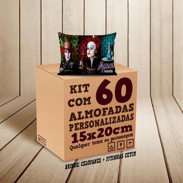 Kit 60 Almofadas Personalizadas 15x20cm