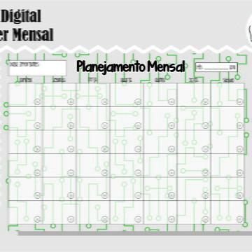 PLANNER MENSAL 36 - ARTE DIGITAL