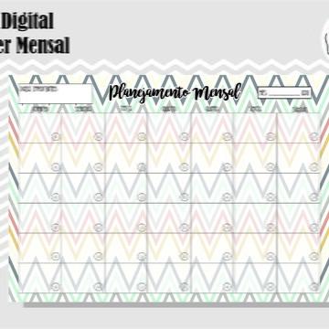 PLANNER MENSAL 37 - ARTE DIGITAL