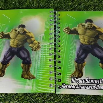 Caderno Personalizado - Hulk
