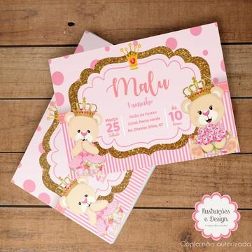 Convite Digital Ursa Princesa
