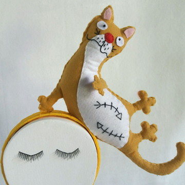 Tiara carnaval gato