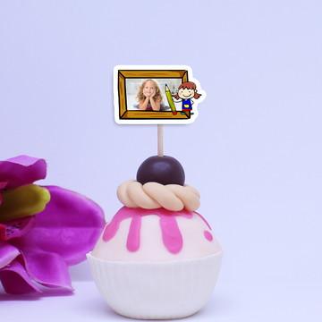 Toppers para doces com foto– aquarela pintora